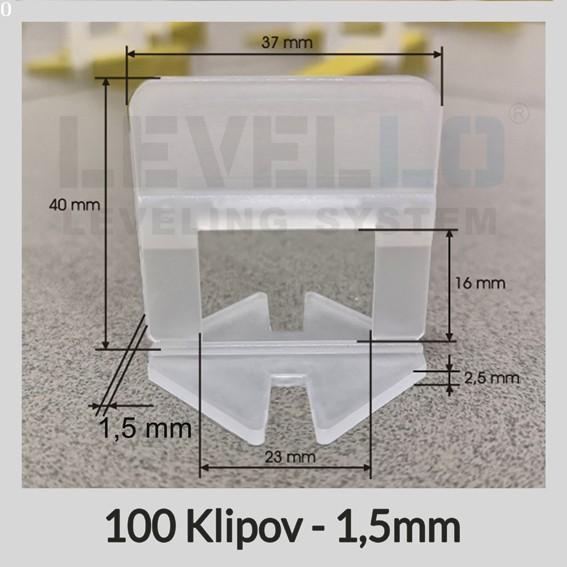 Nivelačné klipy Klasik 1,5 mm, 100 kusov