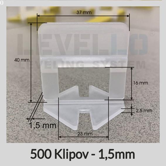 Nivelačné klipy Klasik 1,5 mm, 500 kusov