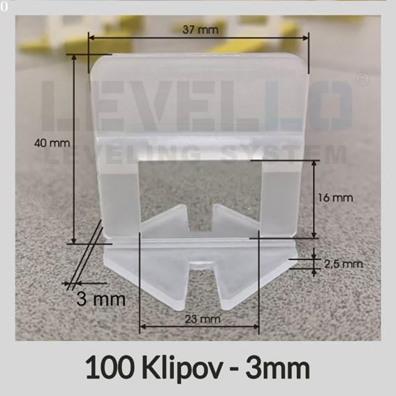Nivelačné klipy Klasik 3 mm, 100 kusov