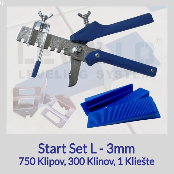 Nivelačný štartovací set Eko L 3 mm, 1 kus