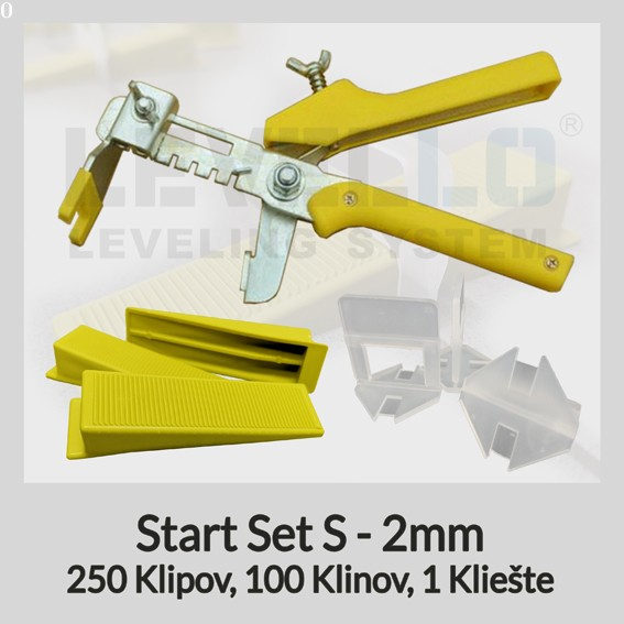 Nivelačný štartovací set Klasik S 2 mm, 1 kus