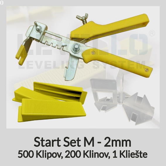Nivelačný štartovací set Klasik M 2 mm, 1 kus