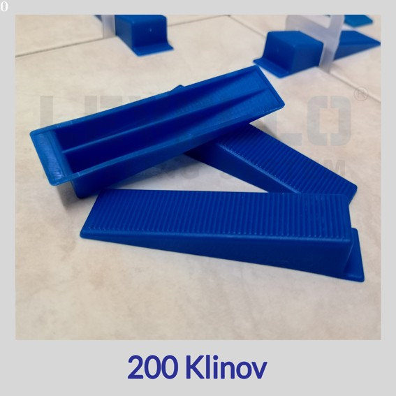 Nivelačné kliny modré, 200 kusov