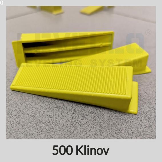 Nivelačné kliny žlté, 500 kusov